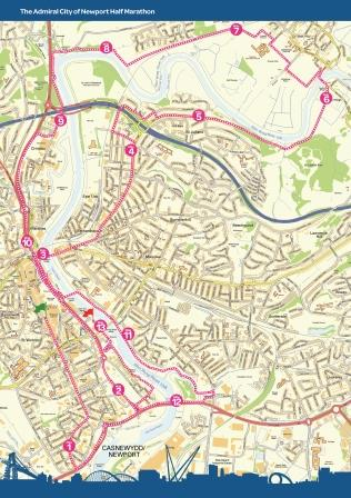 Newport Half Marathon Route